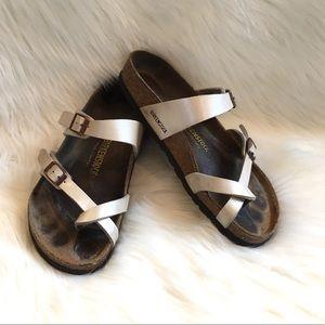 Birkenstock Mayari Sandals Birko-Flor Sz 38